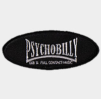 Psychobilly 666% patch oval