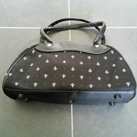Handbag : Bowling bag Black with ankers