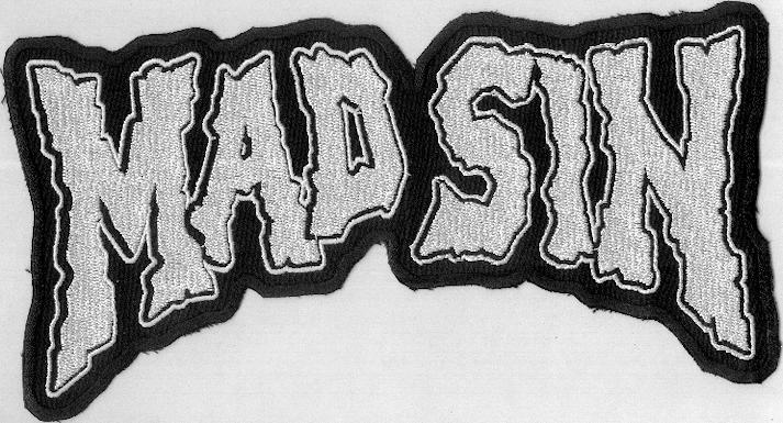 Mad Sin back patch White
