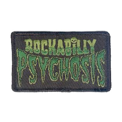 Rockabilly Psychosis Patch Green