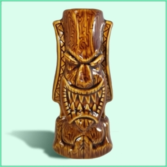 Pray for Surf (Brown) Tiki mug