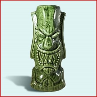 Pray For Surf ( Green) Tiki Mug