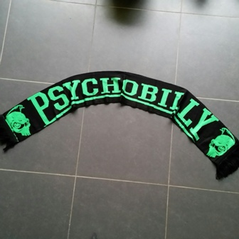 Scarf/Sjaal Psychobilly Black/green