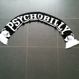 Scarf/Sjaal Psychobilly Black/white