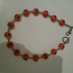Wallet Chain orange/white : 13